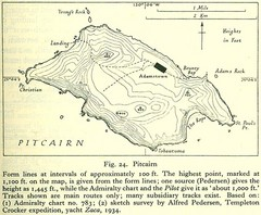 Historic Pitcairn Islands Map