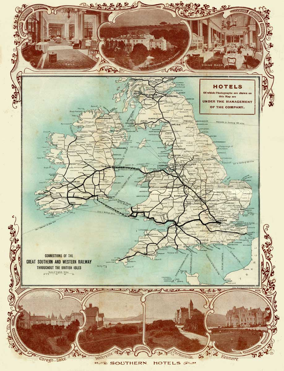 Historic united kingdom railroad map see map details from www