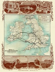 Historic United Kingdom Railroad Map