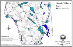Historic Villages of Mansfield, Connecticut Map