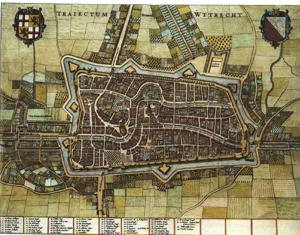Historic map of Utrecht in 1652