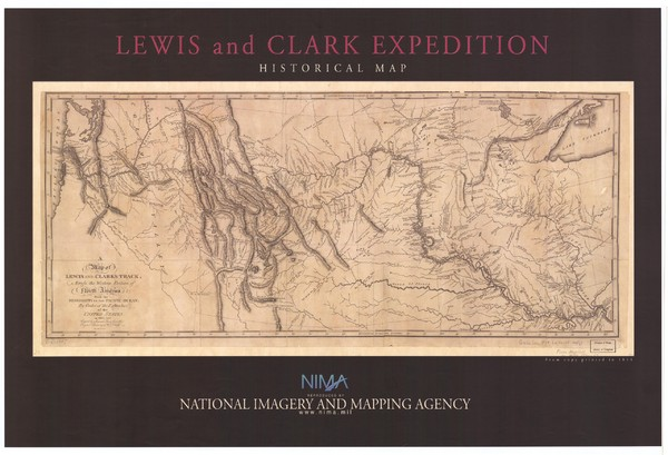 Historical Lewis & Clark Expedition Historical Map