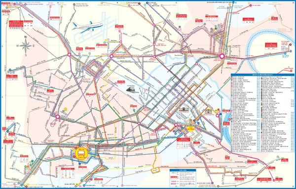 Ho Chi Minh Bus Map