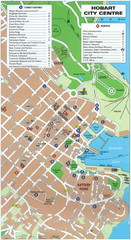 Hobart Tourist Map