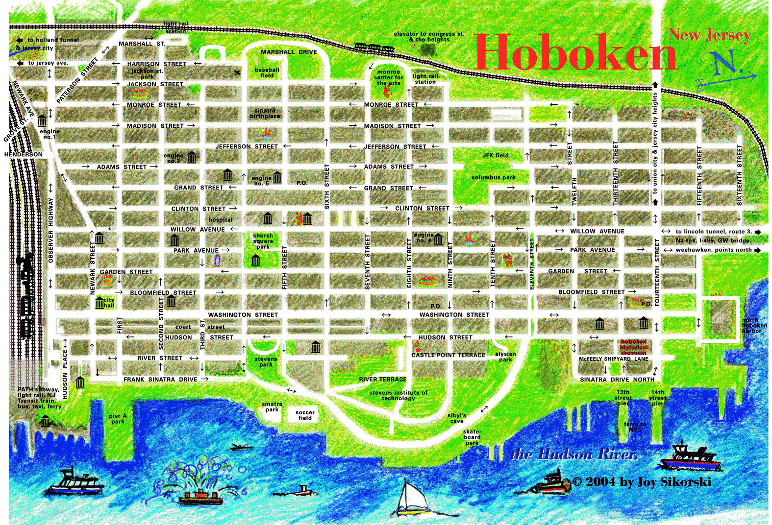 Image result for Hoboken Terminal Map