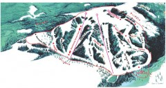 Hogadon Ski Area Trail Map