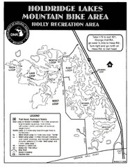 Holdridge Lakes Mountain Bike Map