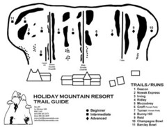 Holiday Mountain Ski Trail Map