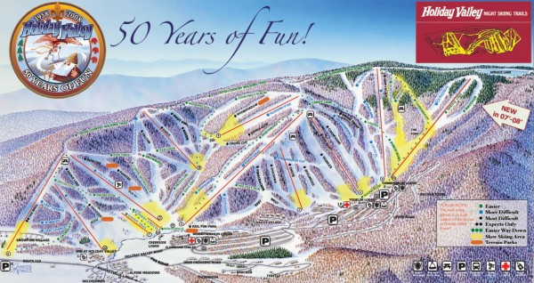Holiday Valley Ski Trail Map