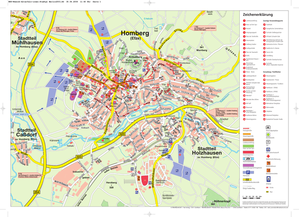 Homberg (Efze) Tourist Map