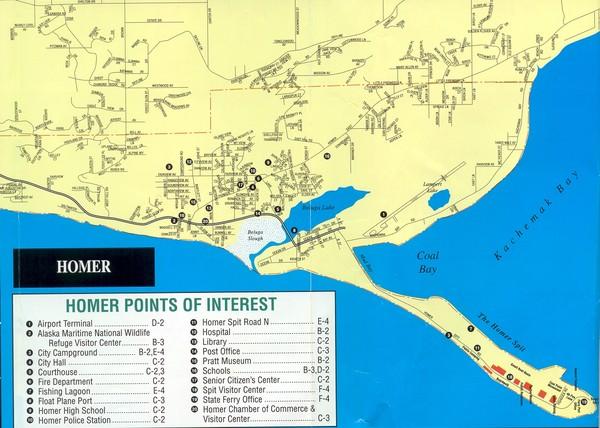 Resurrection Bay Alaska Map.Homer Alaska Map Homer Alaska Mappery