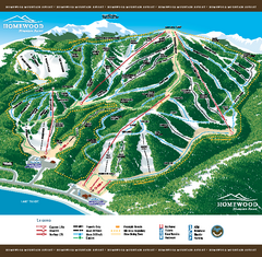 Homewood Mountain Resort Ski Trail Map