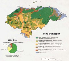 Honduras Land Use and Land Utilization, 1983 Map