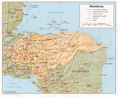 Honduras Tourist Map