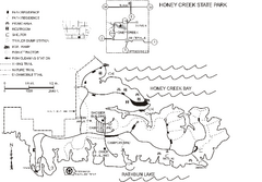 Honey Creek State Park Map