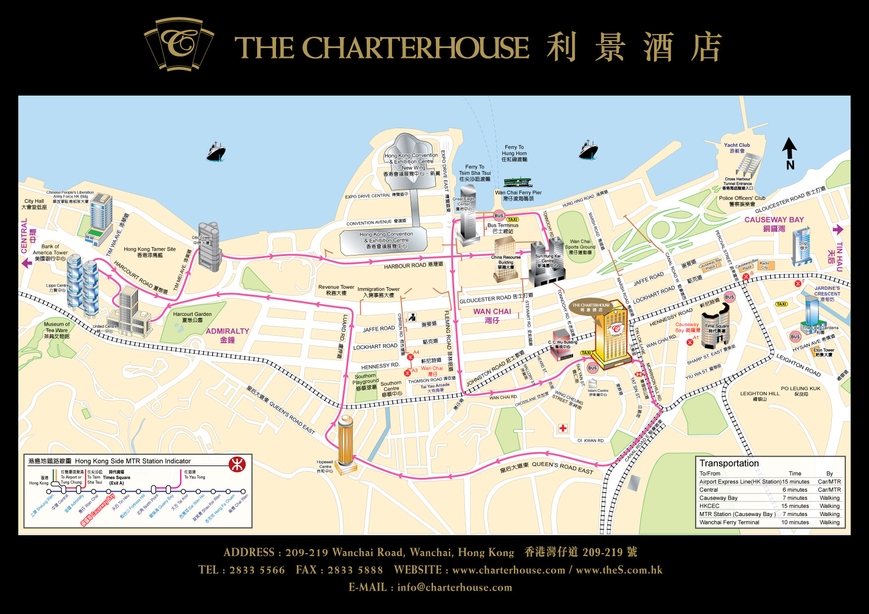 Image Gallery Wanchai Map