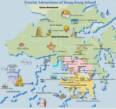 Hong Kong Tourist Map