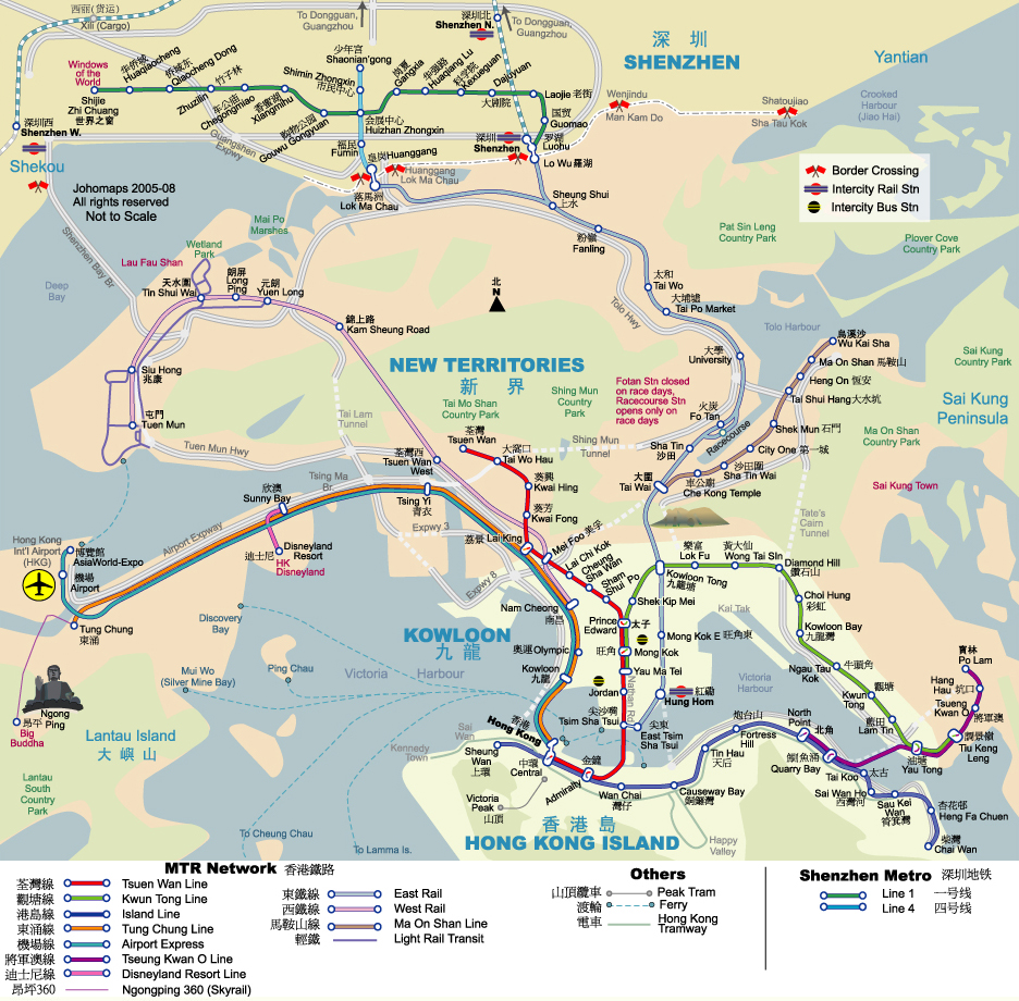 Hong Kong Tourist Map Hong Kong mappery – Hong Kong Map For Tourist