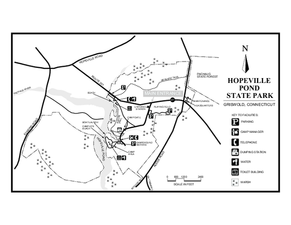 Hopeville Pond State Park trail map