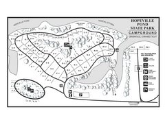 Hopeville Pond campground map