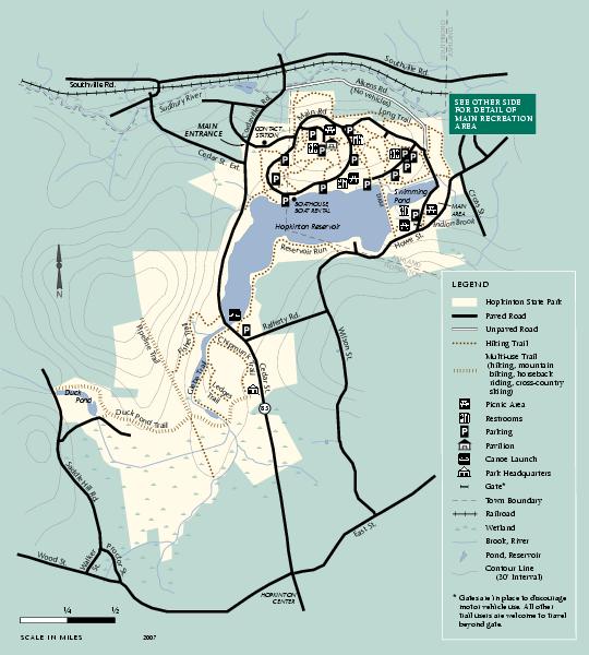 Hopkinton State Park trail map hopkinton ma mappery