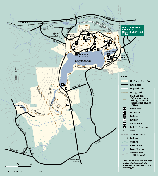 Hopkinton State Park trail map