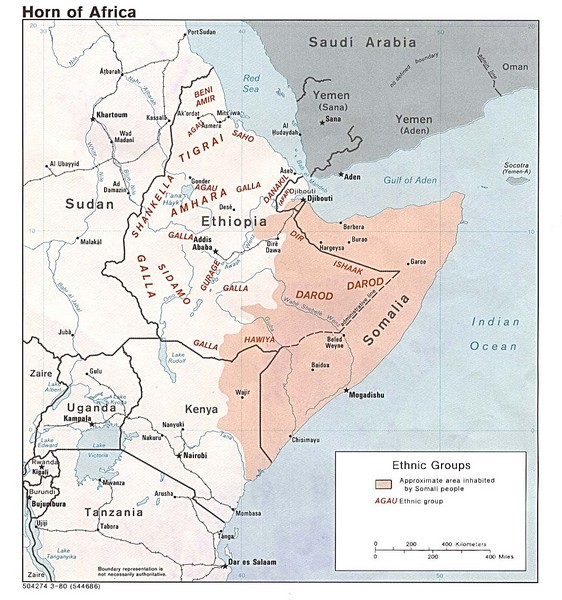 Horn of Africa Ethnic Groups Map