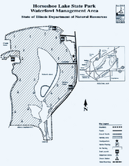 Horseshoe Lake State Park, Illinois Site Map