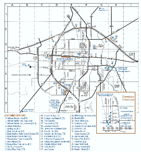 Hotels in Abilene, Texas Map