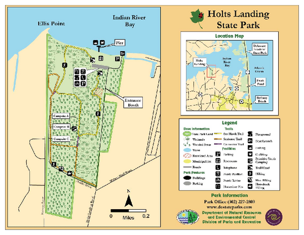Hots Landing State Park Map