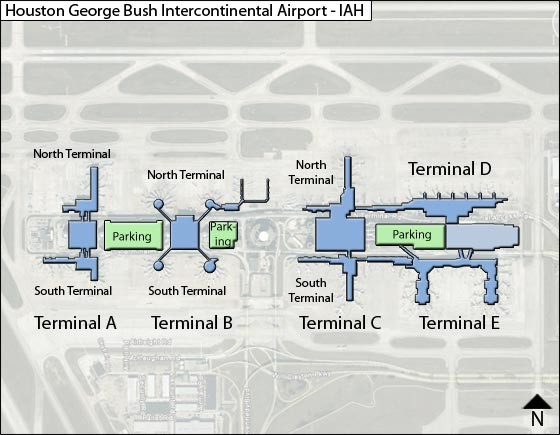 Houston Airport Terminal Map - Houston Airport • mappery