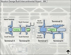 Houston, Airport Terminal Map