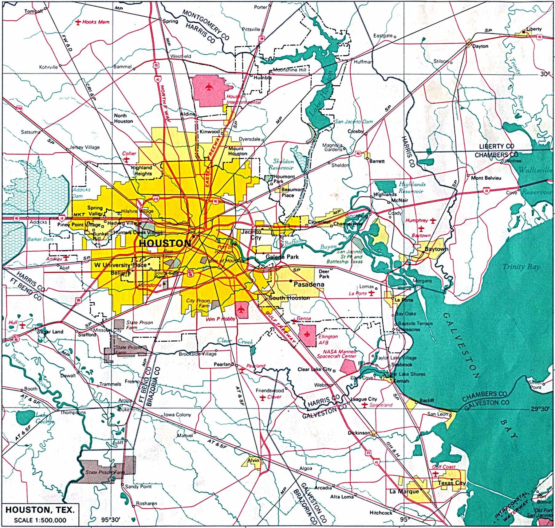 Houston City Map houston mappery