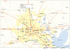 Houston Metropolitan Map