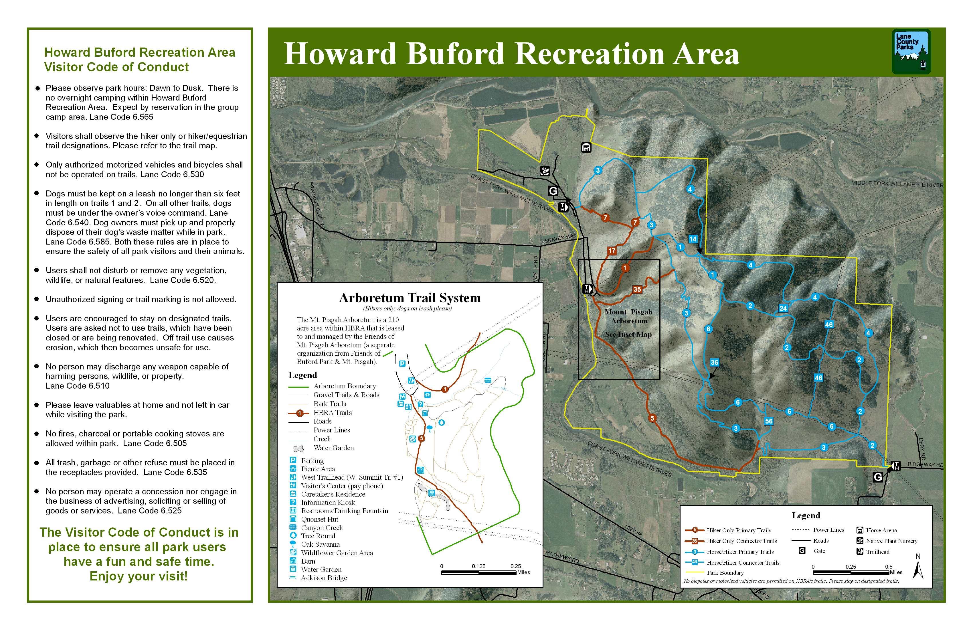 Howard Buford Recreational Area Trails Map Eugene Oregon USA mappery
