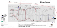 Howe Island Roads Map