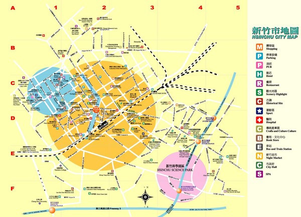 Hsinchu City Map