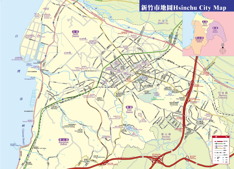 Hsinchu City Map Hsinchu City Taiwan mappery