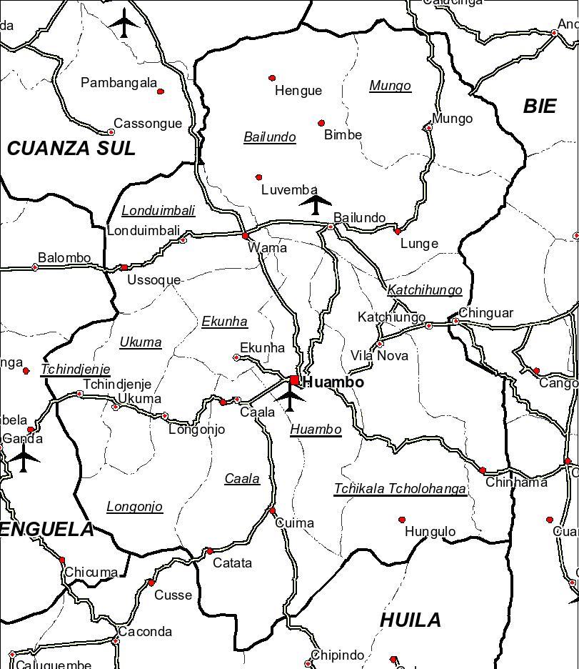 Huambo City Map Huambo angola mappery