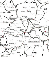 Huambo City Map