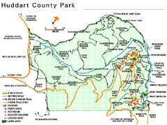 Huddart County Park Map