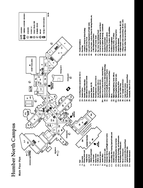 Humber College North Campus Map
