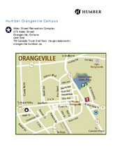 Humber College Orangeville Campus Map