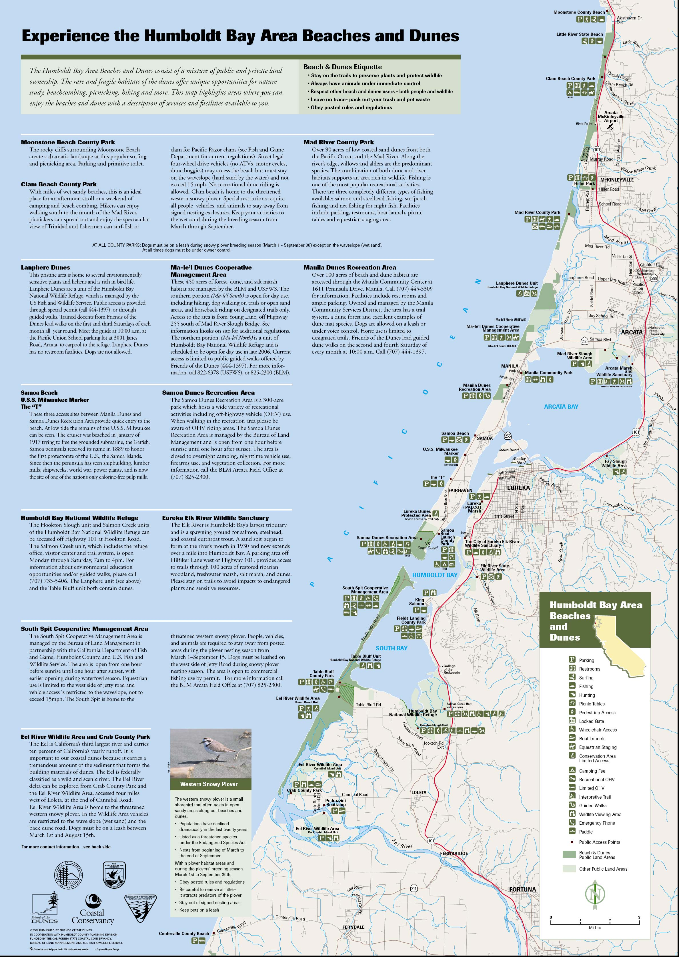 Humboldt Bay Area Beaches and Dunes Map  Humboldt Bay CA US  mappery
