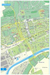 Humenne Tourist Map