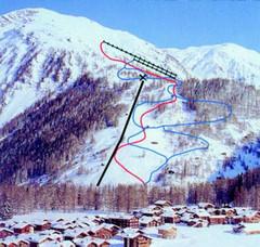 Andermatt Hospental Ski Trail Map Hospental Andermatt Switzerland