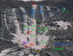 Hunt Hollow Ski Trail Map