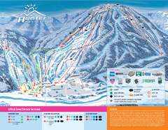 Hunter Mountain Ski Bowl Ski Trail Map