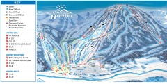Hunter Mountain ski trail map