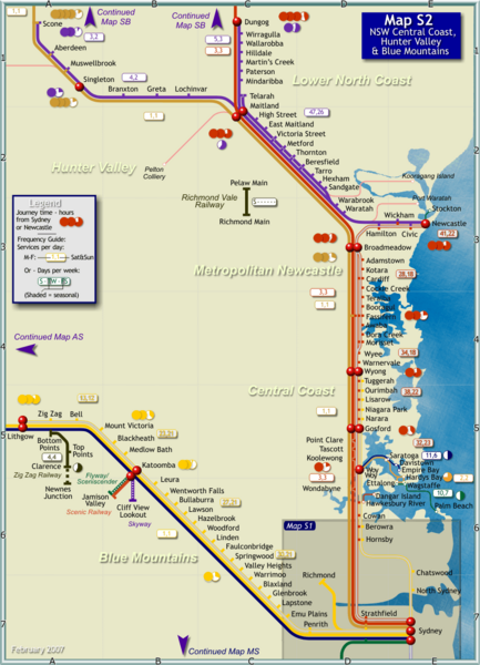 Hunter Valley Rail Map